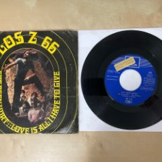 """Discos de vinilo: LOS Z 66 - I'VE BEEN HURT / LOVE IS ALL I HAVE TO GIVE - SINGLE 7"""" - SPAIN 1970 - PROMO. Lote 288404148"""