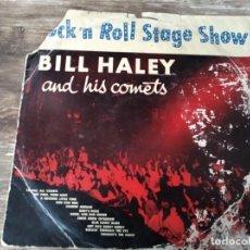 Disques de vinyle: BILL HALEY AND HIS COMETS - ROCK AND ROLL STAGE SHOW ******* SUPER RARO LP ESPAÑOL MIRAR ESTADO. Lote 288405013