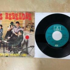 """Discos de vinilo: LOS REBELDES - EL ROCK DEL HOMBRE LOBO - SINGLE 7"""" SPAIN 1981 - PROMO. Lote 288407928"""