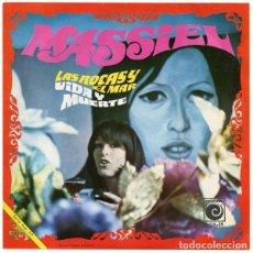 Discos de vinilo: MASSIEL– LAS ROCAS Y EL MAR / VIDA Y MUERTE - SINGLE SPAIN 1968. Lote 288432148