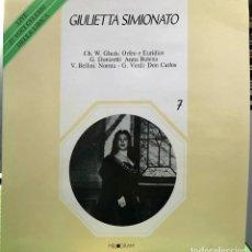 Discos de vinilo: GIULIETTA SIMIONATO - 25 VOCI CELEBRI DELLA LIRICA - 7 - DOBLE LP. Lote 288446933