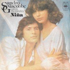 Discos de vinilo: SANDRO GIACOBBE - NIÑA. Lote 288448293