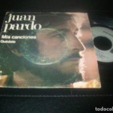 Discos de vinilo: JUAN PARDO - CON MIS CANCIONES - SINGLE DE ARIO DE 1975 + QUEDATE. Lote 288453928