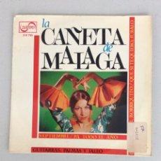 Discos de vinilo: LA CAÑETA DE MÁLAGA. SEPTIEMBRE. PA TODO EL AÑO.. Lote 288456128
