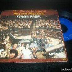 Discos de vinilo: TERESA RABAL - EL MITIN DE LA CIGARRA + MI PERRO NAPOLEON - SINGLE DE 1979 - MUSICA INFANTIL. Lote 288457038