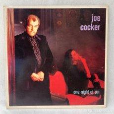 Discos de vinilo: LP - VINILO JOE COCKER - ONE NIGHT OF SIN - ESPAÑA - AÑO 1989. Lote 288457353