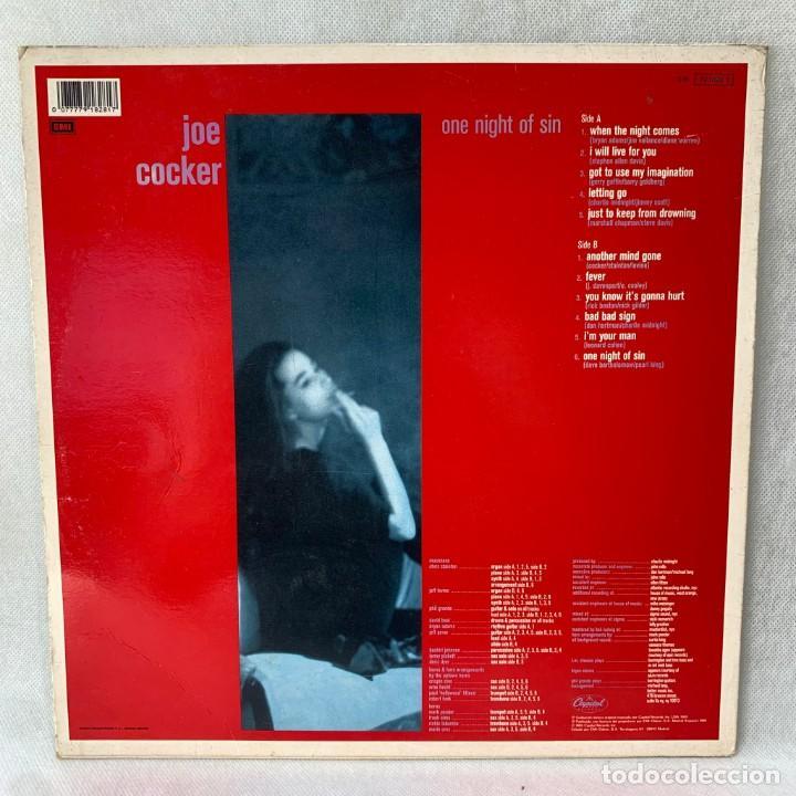 Discos de vinilo: LP - VINILO JOE COCKER - ONE NIGHT OF SIN - ESPAÑA - AÑO 1989 - Foto 4 - 288457353