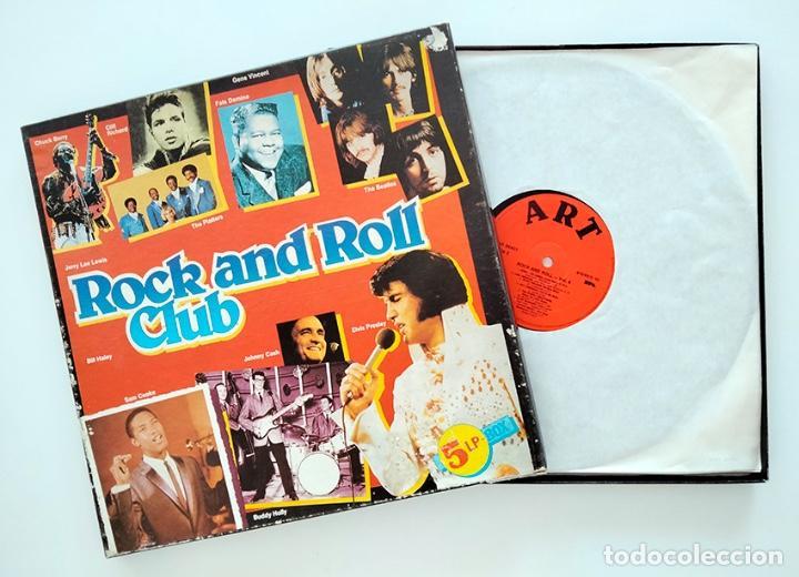 Discos de vinilo: CAJA PACK 5 VINILOS LP ROCK AND ROLL CLUB. VOLUMEN 1 al 5. 1990. - Foto 3 - 288459993