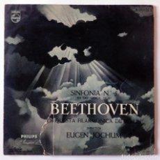 Discos de vinilo: BEETHOVEN SINFONÍA Nº 5 EN DO MENOR, OP 67 ORQUESTA FILARMÓNICA DE BERLÍN EUGEN JOCHUM PHILIPS 1959. Lote 288462673