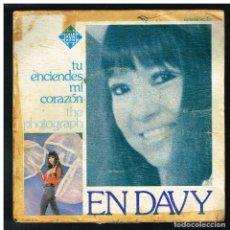 Discos de vinilo: EN DAVY - TU ENCIENDES MI CORAZON / THE PHOTOGRAPH - SINGLE 1975. Lote 288465968