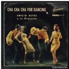 Discos de vinilo: EMILIO REYES - CHA CHA CHA FOR DANDING - MI GUANTANAMERA +3 - EP - SOLO FUNDA, SIN VINILO. Lote 288467538