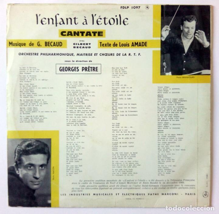 """Discos de vinilo: 10""""- LENFANT À LÉTOILE - GILBERT BÉCAUD - ORCHESTRE PHILARMONIQUE R.T.F. - GEORGES PRETRE - Foto 2 - 288468863"""
