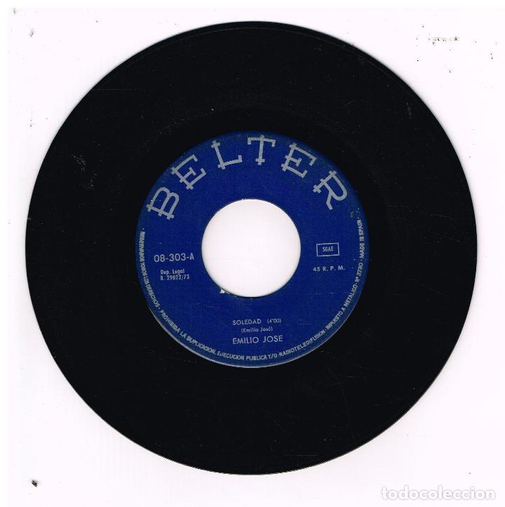 EMILIO JOSE - SOLEDAD / CONTIGO QUISIERA ESTAR - SINGLE 1973 - SOLO VINILO (Música - Discos - Singles Vinilo - Solistas Españoles de los 70 a la actualidad)