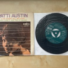 """Discos de vinilo: PATTI AUSTIN - (I'VE GIVEN) ALL MY LOVE / WHY CAN'T WE TRY IT AGAIN 7"""" SINGLE - SPAIN 1967 PROMO. Lote 288469093"""