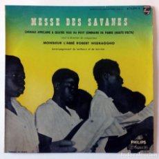 """Discos de vinilo: LP 10"""" - MESSE DES SAVANES - MISA DE SABANA - CORAL AFRICANA A 4 VOCES - PHILIPS 1956. Lote 288471403"""