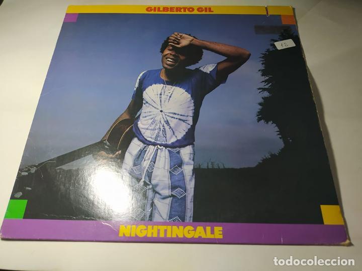 LP - GILBERTO GIL – NIGHTINGALE - 6E-167 (VG+ / VG+) USA 1979 (Música - Discos - LP Vinilo - Grupos y Solistas de latinoamérica)