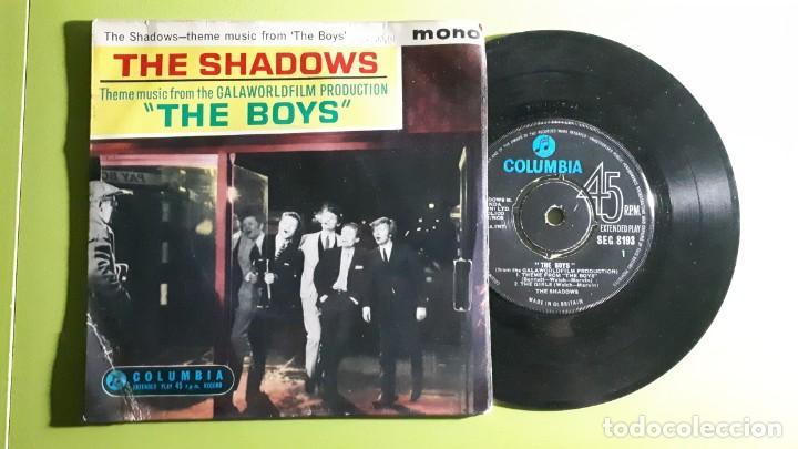 THE SHADOWS - THEME FROM THE BOYS +3 - 1962 - COMPRA MÍNIMA 3 EUROS (Música - Discos de Vinilo - EPs - Pop - Rock Internacional de los 50 y 60)