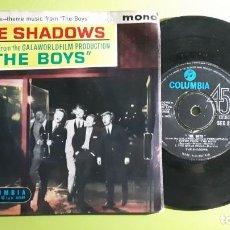 Discos de vinilo: THE SHADOWS - THEME FROM THE BOYS +3 - 1962 - COMPRA MÍNIMA 3 EUROS. Lote 288474443