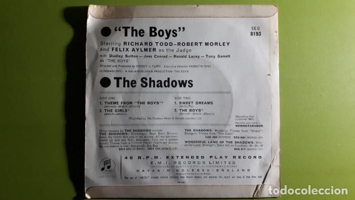 Discos de vinilo: THE SHADOWS - THEME FROM THE BOYS +3 - 1962 - COMPRA MÍNIMA 3 EUROS - Foto 2 - 288474443