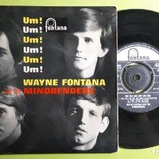 Discos de vinilo: WAYNE FONTANA AND THE MINDBENDERS - UM UM UM UM UM UM +3 - 1964 - COMPRA MÍNIMA 3 EUROS. Lote 288474968