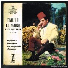 Discos de vinilo: EMILIO EL MORO - ESPERANZA / VINO DULCE / UN AMIGO MÍO / SERRANAS - EP 1962. Lote 288475138