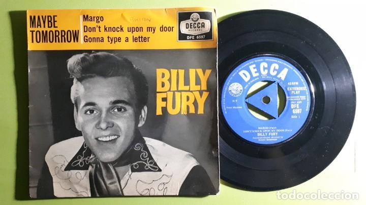 BILLY FURY - MARGO +3 - 1959 - DFE 6597 - COMPRA MÍNIMA 3 EUROS (Música - Discos de Vinilo - EPs - Pop - Rock Internacional de los 50 y 60)