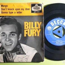 Discos de vinilo: BILLY FURY - MARGO +3 - 1959 - DFE 6597 - COMPRA MÍNIMA 3 EUROS. Lote 288476523