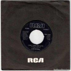 Discos de vinilo: EVELYN KING - LOVE COME DOWN / DON'T HIDE OUR LOVE. SINGLE (SÓLO VINILO). Lote 288479763