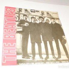 Discos de vinilo: SINGLE THE BEATLES. KANSAS CITY. MR. MOONLIGHT. EIGHT DAYS A WEEK. WOEDS OF LOVE. EMI 1964 SPAIN. Lote 288486543