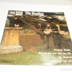 Discos de vinilo: SINGLE THE BEATLES. ELEANOR RIGBY. GOT TO GET YOU. DR. ROBERT. I WANT TO TELL YOU. EMI 1966 SPAIN. Lote 288487213