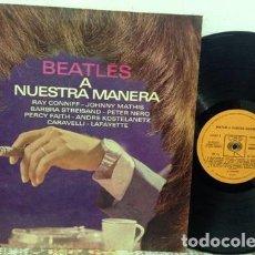 Discos de vinilo: BEATLES A NUESTRA MANERA LP VINILO. Lote 288496953