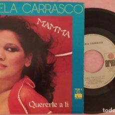 """Discos de vinilo: 7"""" ANGELA CARRASCO - MAMMA / QUERERTE A TI - ARIOLA 100.355-A - SPAIN (EX/EX). Lote 288502743"""