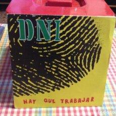 """Discos de vinilo: DNI - HAY QUE TRABAJAR / SINGLE 7"""" 1992 SPAIN PROMO. NM-M. Lote 288504658"""