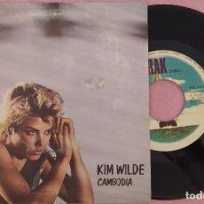 """Discos de vinilo: 7"""" KIM WILDE - CAMBODIA - RAK 11C 008-64 632 - PORTUGAL PRESS (EX+/EX+). Lote 288506318"""