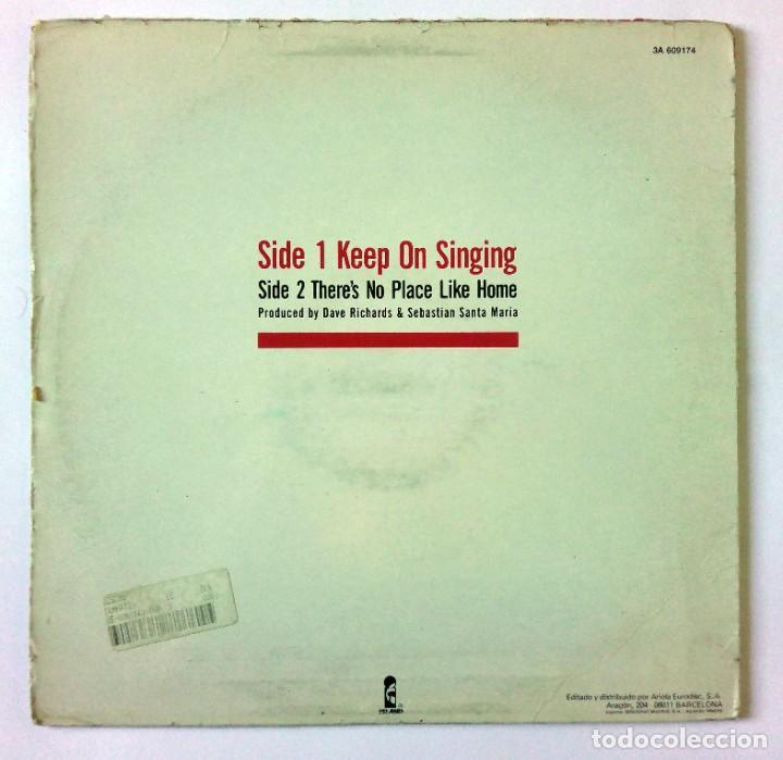 Discos de vinilo: SEBASTIÁN SANTA MARÍA - KEEP ON SINGING - ARIOLA EURODISC, ISLAND RECORDS - 1987 - MAXI SINGLE - Foto 2 - 288510623