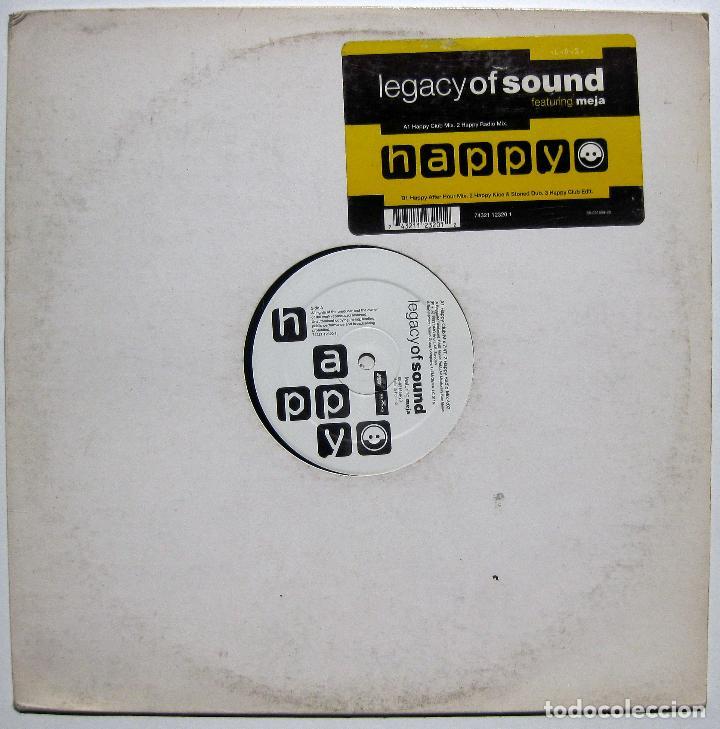 LEGACY OF SOUND FEATURING MEJA - HAPPY - MAXI ARIOLA 1993 HOLANDA BPY (Música - Discos de Vinilo - Maxi Singles - Techno, Trance y House)