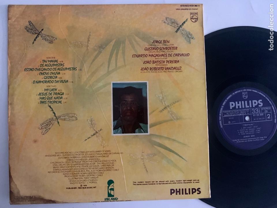 Discos de vinilo: Lp jorge ben Tropical edición española de 1977 - Foto 2 - 288511758