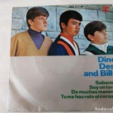 Discos de vinilo: DISCO SINGLE. DINO, DESI AND BILLY. SABEMOS. Lote 288513693