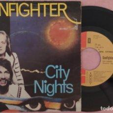 """Discos de vinilo: 7"""" SUNFIGHTER - CITY NIGHTS - EMI 8E 006 06714 - PORTUGAL PRESS (EX-/EX-). Lote 288514458"""
