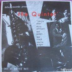 Discos de vinilo: LP - THE QUINTET - JAZZ AT MASSEY HALL (SPAIN, DEBUT RECORDS 2010, CONTIENE FASCICULO). Lote 288528513