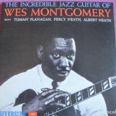Discos de vinilo: LP - WES MONTGOMERY - THE INCREDIBLE JAZZ GUITAR (SPAIN, RIVERSIDE 2010, CONTIENE FASCICULO). Lote 288528983
