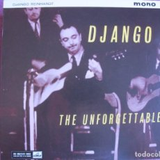 Discos de vinilo: LP - DJANGO REINHARDT - THE UNFORGETTABLE (SPAIN, LA VOZ DE SU AMO 2010, CONTIENE FASCICULO). Lote 288531168