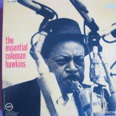 Discos de vinilo: LP - COLEMAN HAWKINS - THE ESSENTIAL (SPAIN, VERVE 2010, PORTADA DOBLE, CONTIENE FASCICULO). Lote 288532013