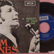 "Discos de vinilo: 7"" TOM JONES - A MINUTE OF YOUR TIME - DECCA PEP 1268 - PORTUGAL PRESS - EP (EX/EX). Lote 288532103"