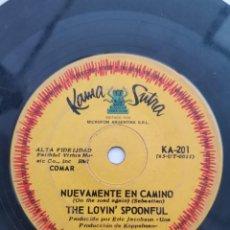 Discos de vinilo: LOVIN' SPOUNFUL, NUEVAMENTE (SINGLE, ARG.). Lote 288533903
