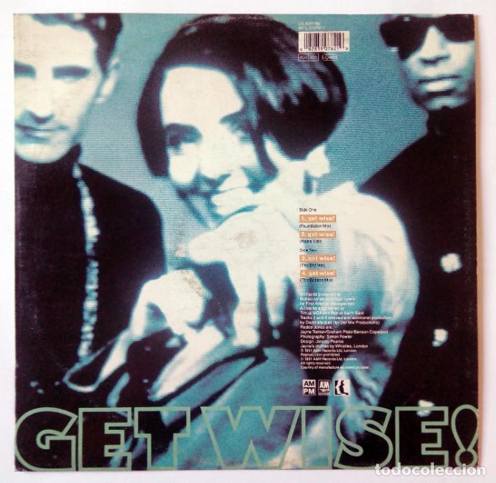 Discos de vinilo: RODEO JONES - GET WISE! - A&M RECORDS, LONDON, 1991 - MAXI SINGLE - Foto 2 - 288534583