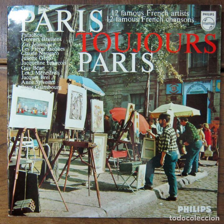 PARIS, TOJOURS PARIS - CHANSON, PATACHOU, BRASSENS, GRECO, BREL, GAINSBOURG (Música - Discos - LP Vinilo - Canción Francesa e Italiana)