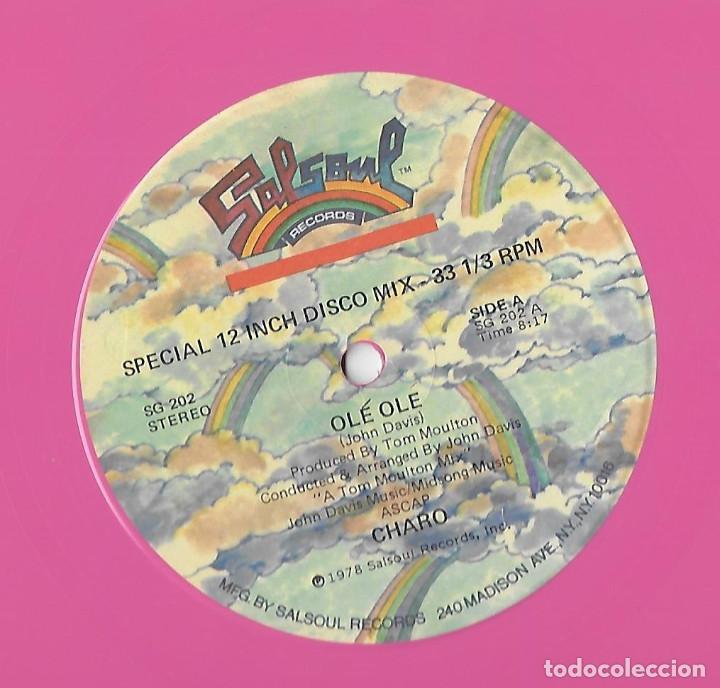 """Discos de vinilo: CHARO USA 12"""" MAXI 1978 OLE OLE SPECIAL EXTENDED VERSION VINILO ROSA ELECTRONIC DISCO FUNK SOUL MIRA - Foto 3 - 288542093"""