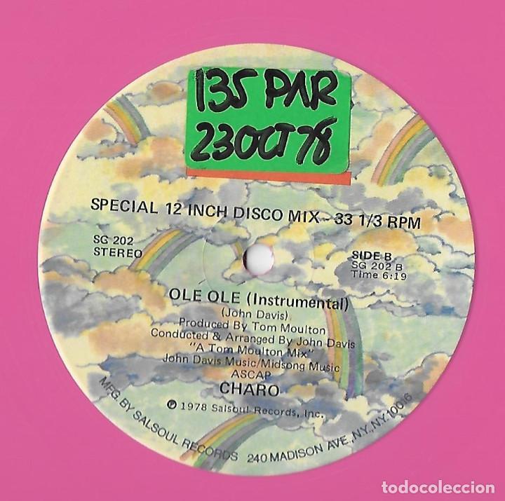 """Discos de vinilo: CHARO USA 12"""" MAXI 1978 OLE OLE SPECIAL EXTENDED VERSION VINILO ROSA ELECTRONIC DISCO FUNK SOUL MIRA - Foto 4 - 288542093"""