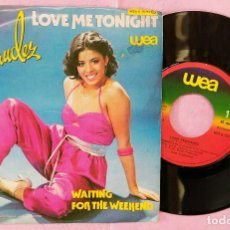 "Discos de vinilo: 7"" LUISA FERNANDEZ - LOVE ME TONIGHT - WEA G 18 313 - PORTUGAL PRESS (VG+/VG+). Lote 288542883"